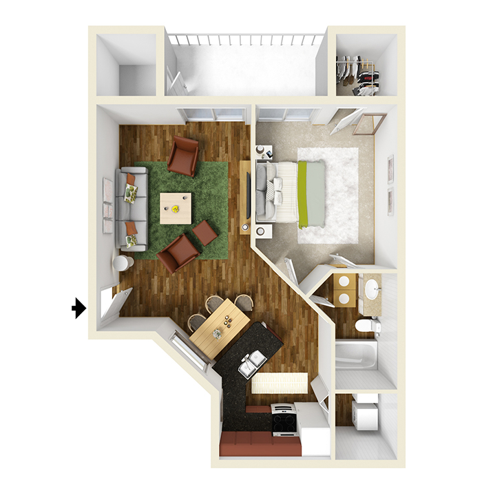 1, 2 And 3 Bedroom Floor Plans